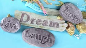 Dream Driftwood and Word Stones Cake Decorating Tutorial   Seaside Moulds Collection