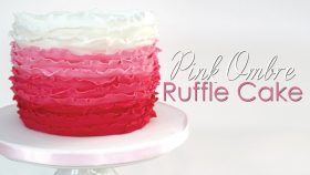 Pink Ombre Ruffle Cake Tutorial