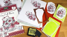 Say it with Flowers Paper Craft Collection for Card Making