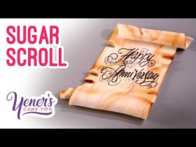 SUGAR SCROLL for Inscriptions Tutorial   Yeners Cake Tips with Serdar Yener from Yeners Way
