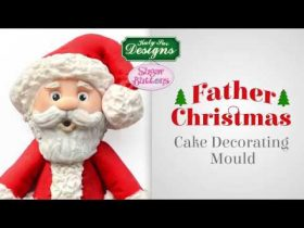 Sugar Buttons Father Christmas Cake Decorating Mould