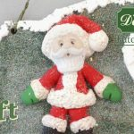 Sugar Buttons Father Christmas character made with air drying clay