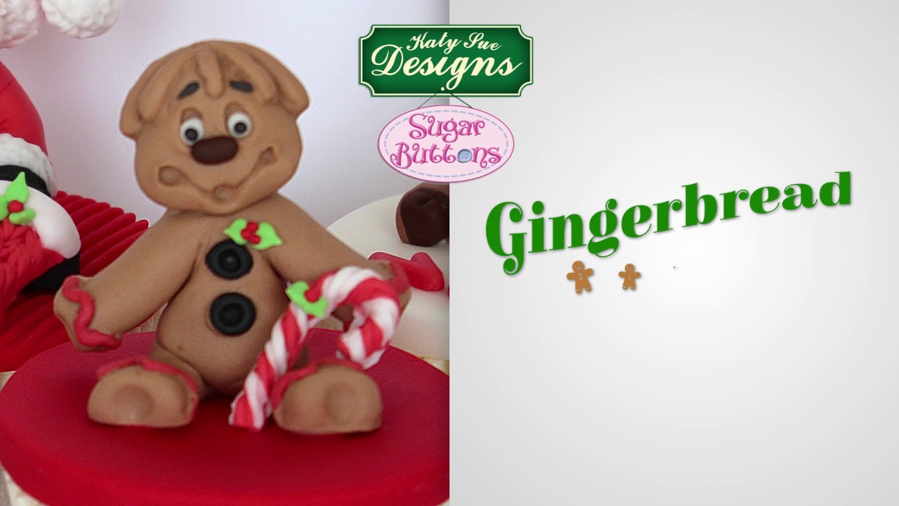 Sugar Buttons Gingerbread Man Cake Decorating Mould