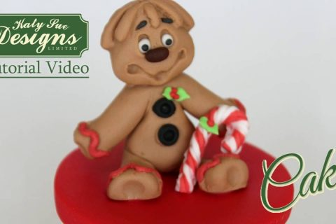 Sugar Buttons Gingerbread Man Mould for Cake Decorating