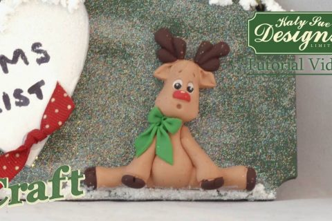 Sugar Buttons Reindeer made with air drying clay