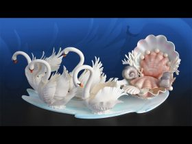 Sugar Swans and Seashell Carriage Tutorial Overview