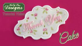 Thank You Cake Plaque Mould
