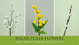 How to Make Baby's Breath, Mimosa & Pussy Willow   Sugar Filler Flowers Part 3