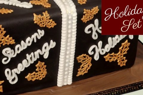 Word Perfect Holidays Set For Cake Decorating
