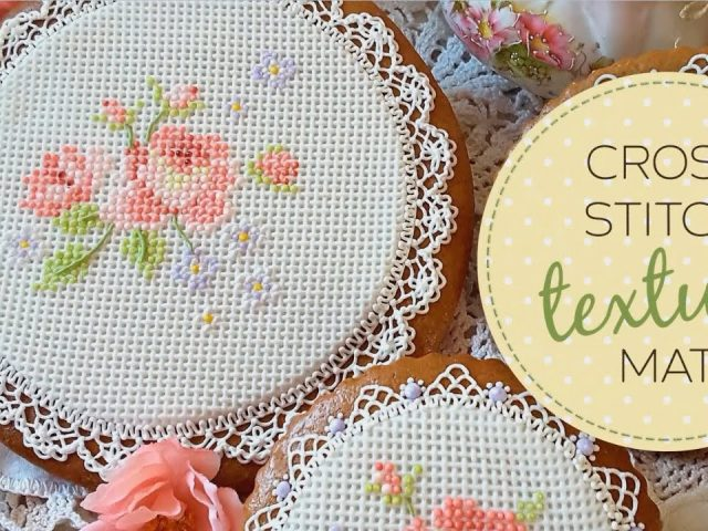 Cross Stitch Cake Decorating Texture Mat