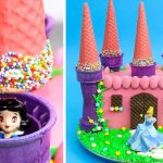 PRINCESS Castle Cake with Surprise Toys Inside | Fun & Easy Cake Decorating