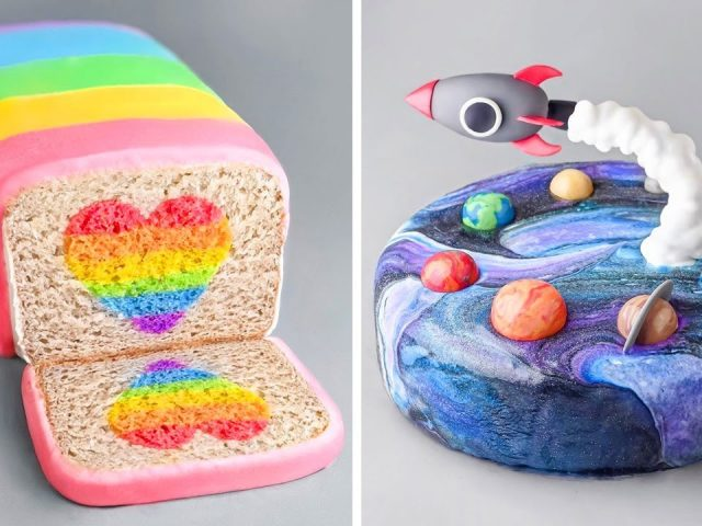 How to make the Best Ever Rainbow Cake & Galaxy Cake | Easy DIY Cake Decorating Tutorials
