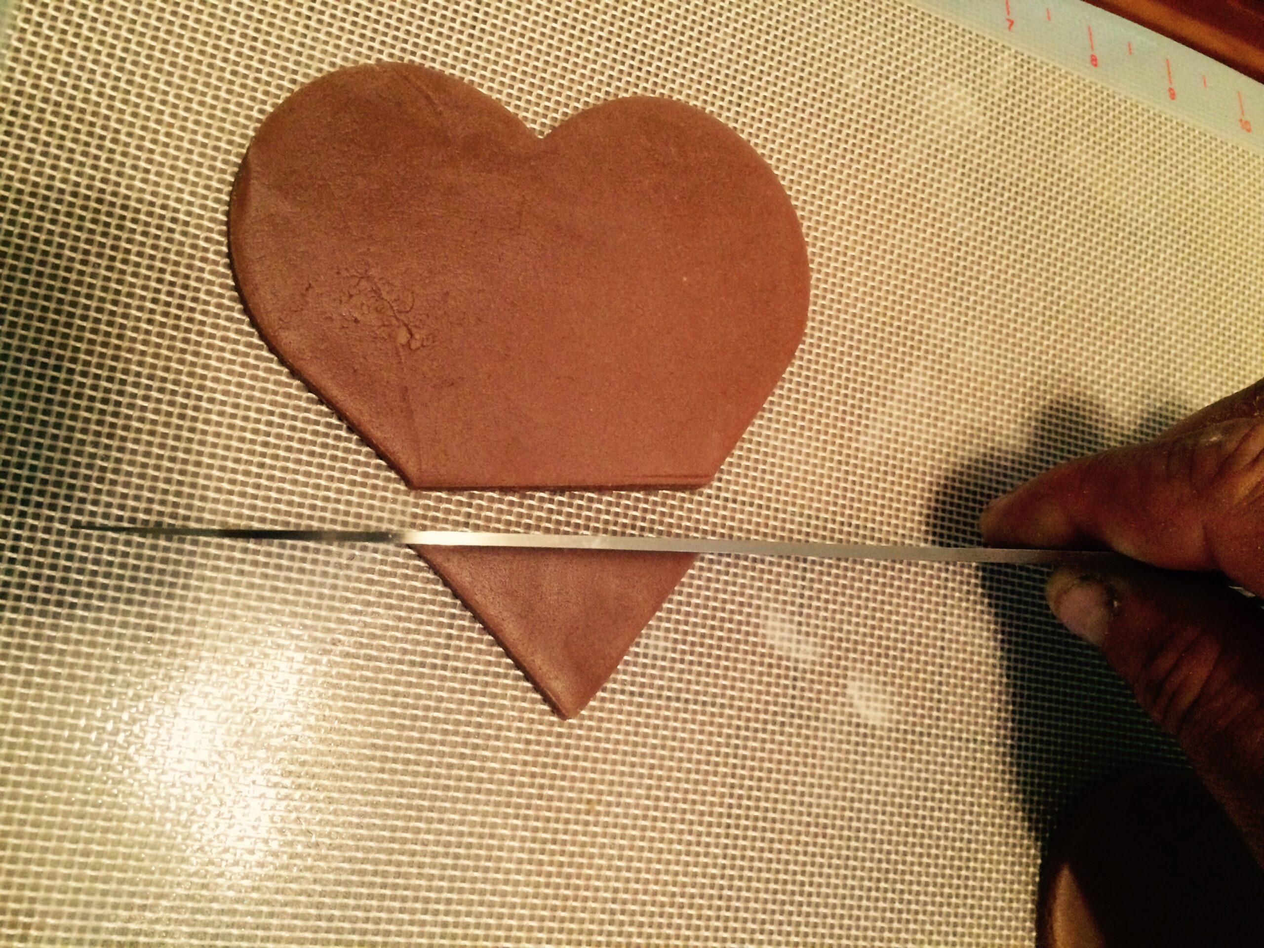 turkey cookie heart
